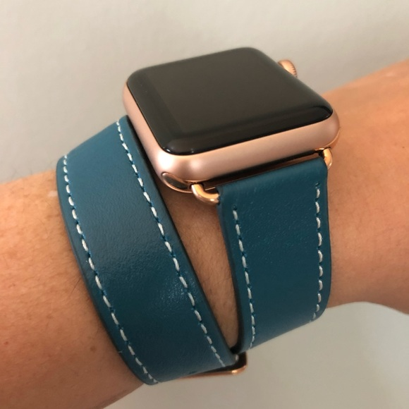 Accessories Rose Gold Blue Double Tour Apple Watch Band New Poshmark
